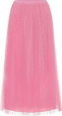 Red Valentino Point-desprit tulle midi skirt