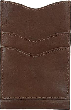 Alternative Mens Leather Phone Case Wallet, Maple, One Size