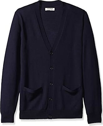 Goodthreads Mens Merino Wool Cardigan Sweater, Navy, Small