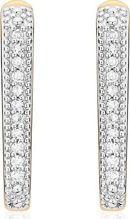 Monica Vinader Alta Capture Huggie Diamond earrings - GOLD