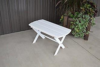 A & L Furniture A & L Furniture Yellow Pine Folding Coffee Table, White