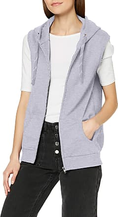 Awdis Womens Girlie Sleeveless Zoodie Hoodie, Grey (Heather Grey), 6 (Manufacturer Size:XX-Small)