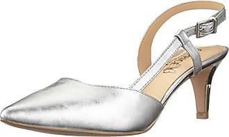 10858b238d47a0 Caprice Damen Gillian Slingback Pumps Mehrfarbig (Silver Satin 966) 39 EU