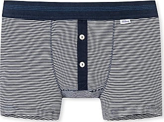 Schiesser Revival Karl-Heinz - Shorts Navy Geringelt - Revival - Blue - X-Large