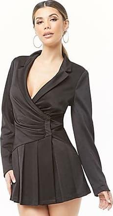 Forever 21 Forever 21 Plunging Blazer Dress Black
