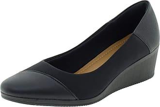 Usaflex Sapato Usaflex Care Joanete Neoprene Anabela Couro Feminino AA3810