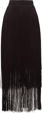 Raey Long-fringe Midi Pencil Skirt - Womens - Black