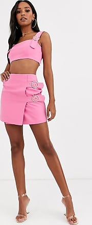 4th & Reckless buckle mini skirt in pink