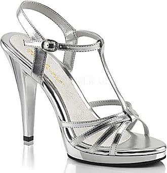 ba36961293 Fabulicious Womens FLAIR-420 Sandal, SLV met Polyurethane/clr, 5 M US