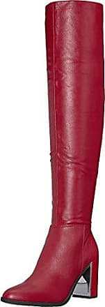 Nine West Womens WISEPLAY Leather Knee High Boot, red, 7.5 Medium US