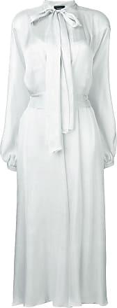 Irina Schrotter Vestido longo com amarração - Cinza