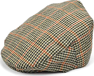 Hawkins Country Flat Cap with Classic Tweed Check Design (60cm) Brown
