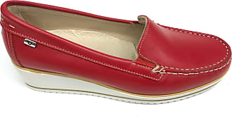 Valleverde 11207 Calf Red Moccasin Woman Comfortable Red Size: 8 UK
