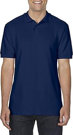 Gildan Mens 100% Ring Spun Cotton* Softstyle Double Pique Polo Shirt Top Navy XX-Large