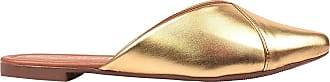 Eleganteria Mule Feminino Rasteira Bico Fino Dourado Eleganteria Tamanho:38;Cor:Dourado