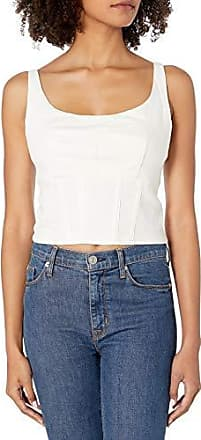 MOON RIVER Womens Sleeveless Lace Trim Floral Flounce Crop Top