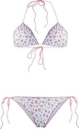 Oséree Biquíni com estampa floral - Rosa