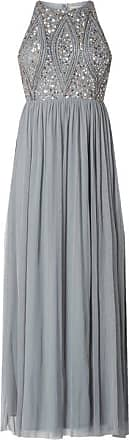 Lace & Beads Kleid aus Mesh mit Pailletten