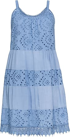 Bodyflirt Dam Sommarklänning med spets i blå utan ärm - BODYFLIRT 169103a5aabbf