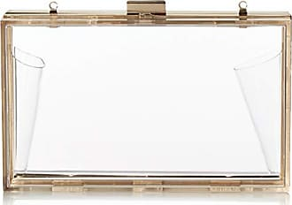 Jessica McClintock Womens Lucinda Lucite Clutch w/Pouch, Rainbow