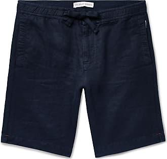 Orlebar Brown Harton Linen Drawstring Shorts - Navy