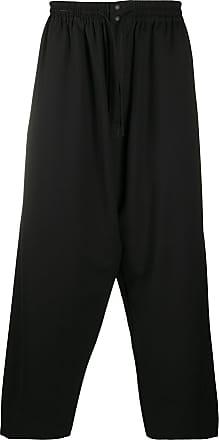Yohji Yamamoto Calça com ajuste no cós - Preto