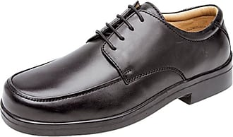 Roamers Mens Soft Leather XXX Extra Very Wide Fit Lightweight Lace Up Shoes Black 11
