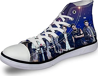 Haililais EXO Shoes Lacing Leisure Shoes Trainers Shoes Canvas Shoes High-top Shoes Printing Comfortable Flat Shoes EXO Sneakers (Color : A04, Size : EU35 US4.5