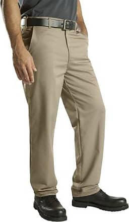 Dickies Mens Relaxed Fit Cotton Flat Front Pant, Khaki, 42X32