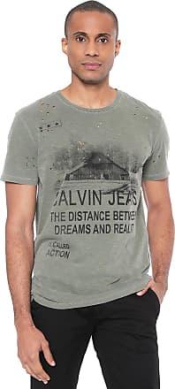Calvin Klein Jeans Camiseta Calvin Klein Jeans Destroyed Verde