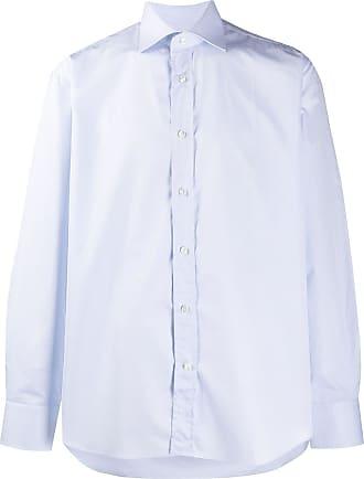 Canali Camisa mangas longas com listras - Azul