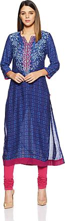 Biba Womens Straight Kurta (INDIGO12677_Blue_32)