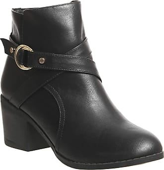 Office Angelina- Block Heel Strap Ankle Boot Black - 5 UK