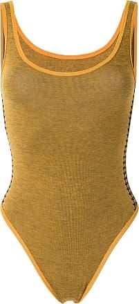 Nagnata Body Nami com listras na lateral - Amarelo