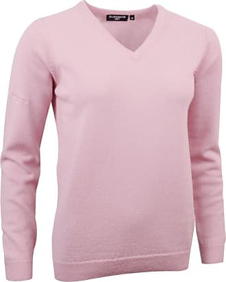 Glenmuir Ladies LKL2542VN V Neck Lambswool Golf Sweater Candy L