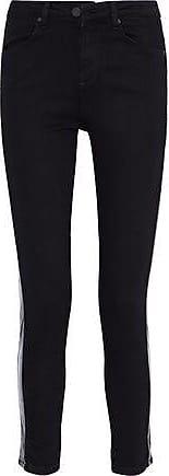 Zoe Karssen Zoe Karssen Woman Coated Mid-rise Skinny Jeans Black Size 24