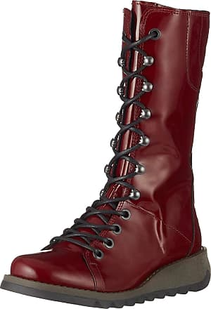 FLY London Womens STER768FLY Combat Boots, Red (Burgundy 011), 5 (38 EU)