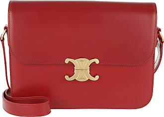 Celine Triomphe Bag Large Leather Red Umhängetasche rot