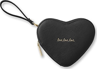 Katie Loxton Heart Pouch Clutch Bag Black