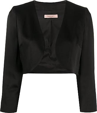 Twin-Set open cropped jacket - Black