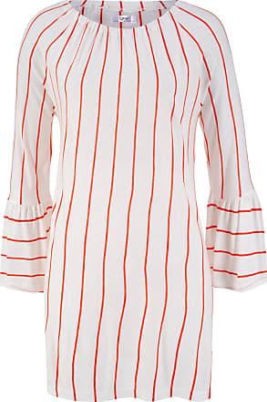 f84fd8bf299ce6 Bonprix Blusen-Tunika in Streifenoptik mit Carmen-Ausschnitt in weiß von  bonprix