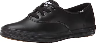 Keds Womens Champion Core Leather Sneakers Black 5 UK