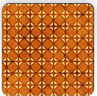 Rikki Knight Rikki Knight Grunge Amber Floor Design Square Fridge Magnet