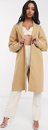 Unique21 Unique21 - Cappotto di lana con polsini raccolti-Beige