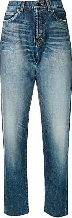 Saint Laurent high-waist boyfriend jeans - Blue