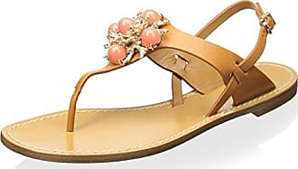 Aerin Womens Vaccaro Sandal, Natural, 7 M US