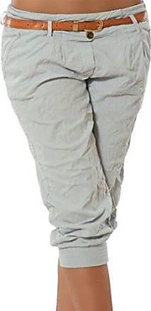 187cba7f36baa6 juqilu Damen Chino Stoffhose Capri 3/4 Hose Kurze Sommer Bermuda Einfarbig  Beiläufige Pants Kurze