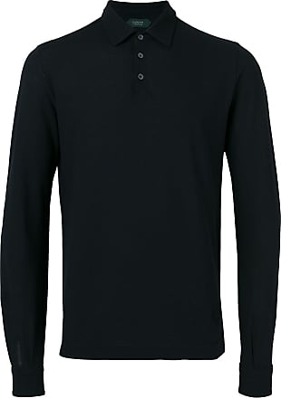 Zanone Camisa polo mangas longas - Azul