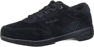 Propét Propet Womens Washable Walker Walking Shoe, SR Black Suede, 10 2E US