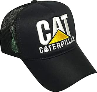 CAT Boné Caterpillar Estilo Country Preto Trucker